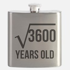 60 Years Old Square Root Flask