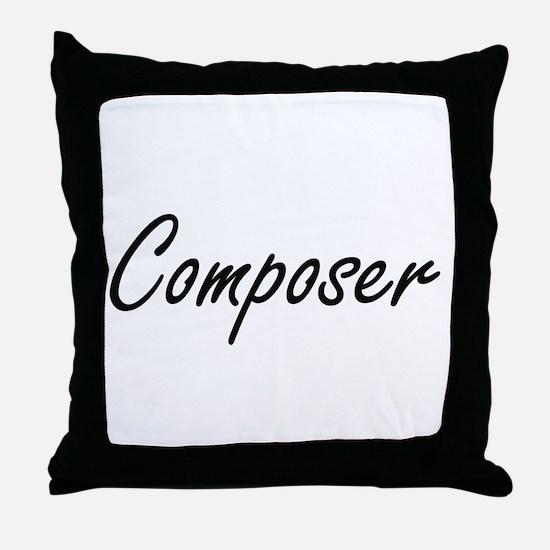 Composer Artistic Job Design Throw Pillow