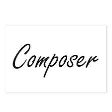 Composer Artistic Job Des Postcards (Package of 8)