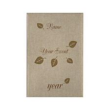 Personalised Golden Leaf Event Reception Magnets