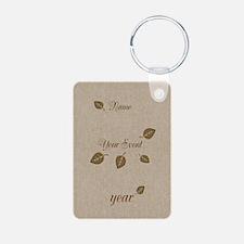 Gold Leaf Celebration Keychains