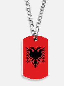Albania Flag Dog Tags