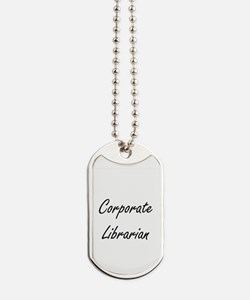 Corporate Librarian Artistic Job Design Dog Tags