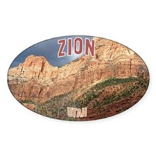 Zion National Park Oval Decal