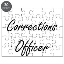 Corrections Officer Artistic Job Design Puzzle
