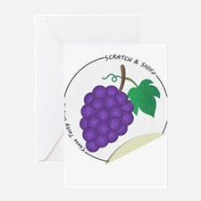 Scratch and Sniff These Tasty Grapes! Greeting Car