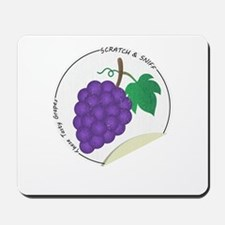 Scratch and Sniff These Tasty Grapes! Mousepad