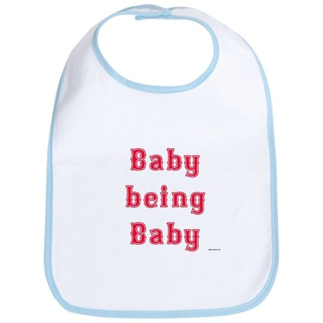 Baby Being Baby Bib