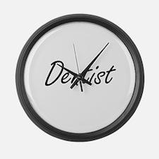 Dentist Artistic Job Design Large Wall Clock
