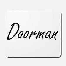 Doorman Artistic Job Design Mousepad