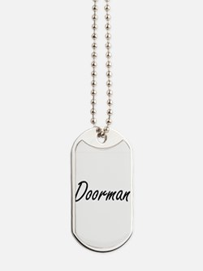 Doorman Artistic Job Design Dog Tags