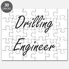 Drilling Engineer Artistic Job Design Puzzle