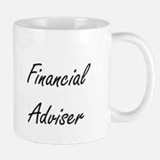 Financial Adviser Artistic Job Design Mugs