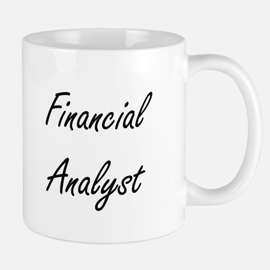Financial Analyst Artistic Job Design Mugs
