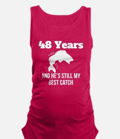 48 Years Best Catch Maternity Tank Top