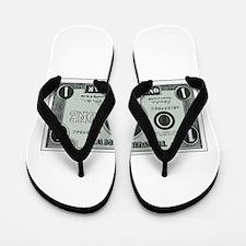One Cyber Dollar Etching Flip Flops