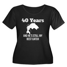 40 Years Best Catch Plus Size T-Shirt