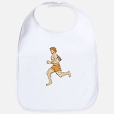 Barefoot Runner Running Side Etching Bib