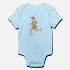 Barefoot Runner Running Side Etching Body Suit
