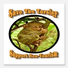 """Save the Tarsier Support Square Car Magnet 3"""" x 3"""""""