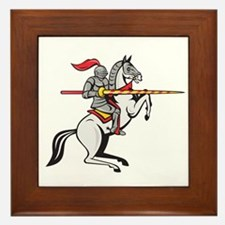 Knight Lance Steed Prancing Isolated Cartoon Frame