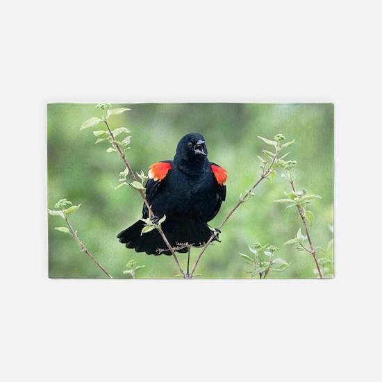 Red-Winged Blackbird Area Rug