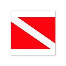"Cute Scuba flag Square Sticker 3"" x 3"""