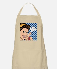 Chevron and Woman Pop Art Personalized Apron
