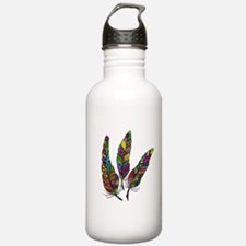 Feather Sketch 1 Sports Water Bottle