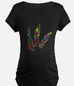 Feather Sketch 1 Maternity T-Shirt
