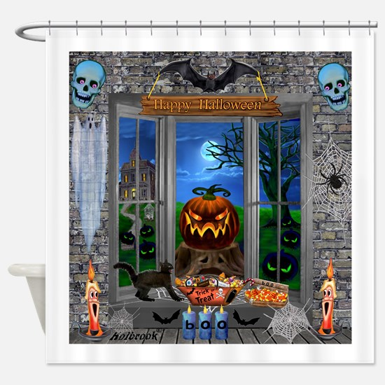 Cute Haunted house Shower Curtain