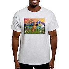 Vizsla in Fantasyland Ash Grey T-Shirt