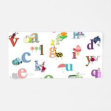 I learn the alphabet Aluminum License Plate