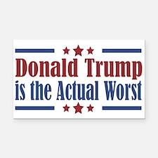 Trump Actual Worst Rectangle Car Magnet