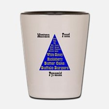 Montana Food Pyramid Shot Glass