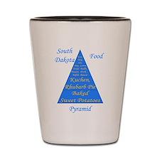 South Dakota Food Pyramid Shot Glass