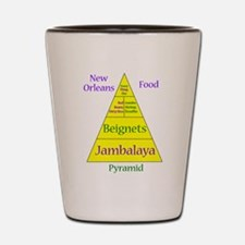 New Orleans Food Pyramid Shot Glass