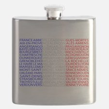 French Cities Flag Flask