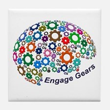 Engage Gears Tile Coaster