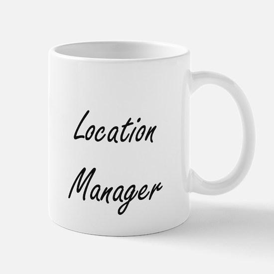 Location Manager Artistic Job Design Mugs
