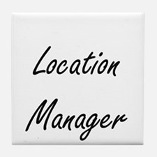 Location Manager Artistic Job Design Tile Coaster