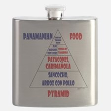 Panamanian Food Pyramid Flask