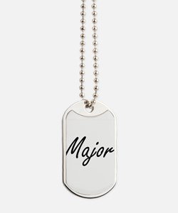 Major Artistic Job Design Dog Tags