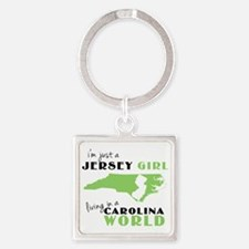 Cute New jersey Square Keychain