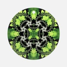 Fragments Pattern Green Round Ornament