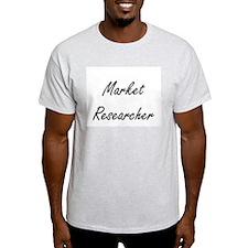 Market Researcher Artistic Job Design T-Shirt