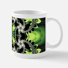 Fragments Pattern Green Mugs