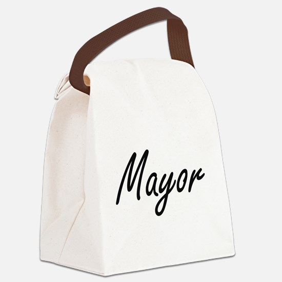 Mayor Artistic Job Design Canvas Lunch Bag