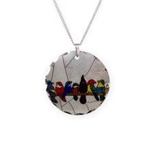 Exotic birds on a branch Necklace