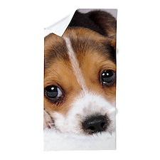 Cute Puppy Beach Towel